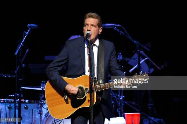 Musician Glenn Frey performs on stage during the After Hours Tour opening night at Town Hall on May 9 2012 in New York City