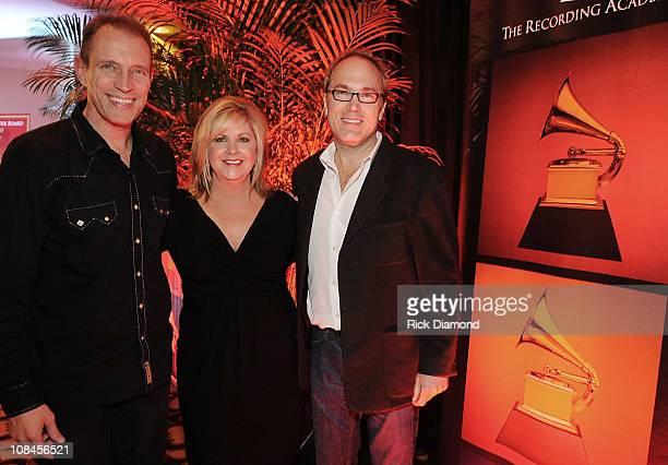 Musician Gordon Kennedy Susan Stewart Nashville Chapter Exec Director and Musician Ben Fowler attend the GRAMMY Nominee Party at the Loews Vanderbilt...
