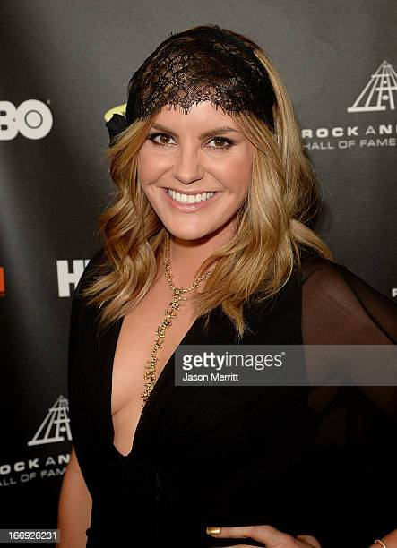 Musician Grace Potter arrives at the 28th Annual Rock and Roll Hall of Fame Induction Ceremony at Nokia Theatre LA Live on April 18 2013 in Los...