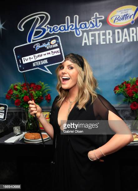 Musician Grace Potter attends the I Can't Believe It's Not Butter 'Breakfast After Dark' Gift Lounge at The 28th Rock and Roll Hall of Fame Induction...