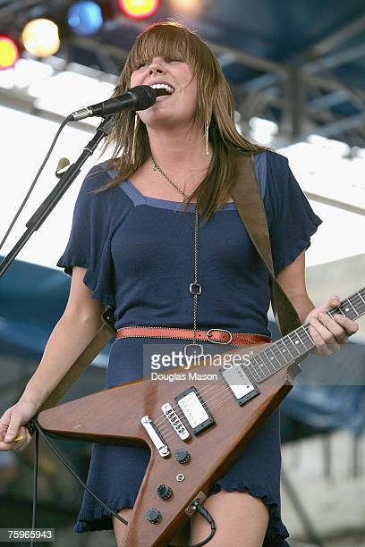 Musician Grace Potter performs at the Newport Folk Festival 2007 presented by Dunkin' Donuts at Fort Adams State Park August 4 2007 in Newport Rhode...