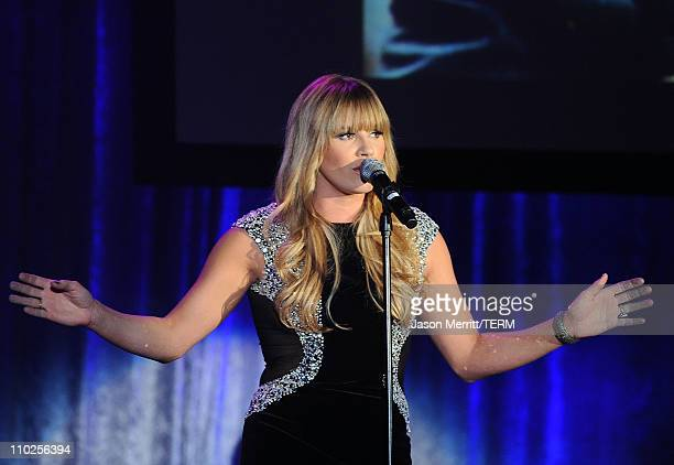 Musician Grace Potter performs onstage during the 19th annual A Night At Sardi's fundraiser and awards dinner benefitting the Alzheimer's Association...