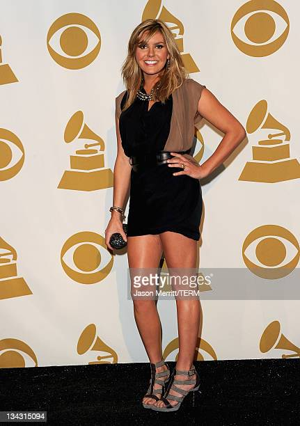 Musician Grace Potter poses in media room at The GRAMMY Nominations Concert Live Countdown to Music's Biggest Night at Nokia Theatre LA Live on...