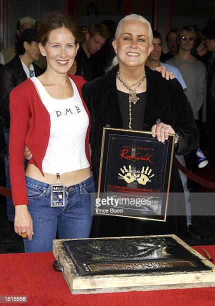 Musician Grace Slick and daughter actress China Kantner attend a handprint ceremony inducting Slick into the Hollywood Rock Walk at the Guitar Center...