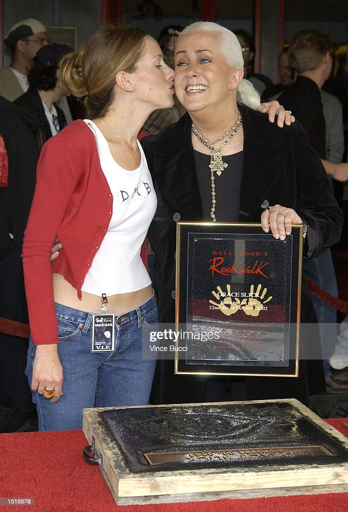Grace Slick Inducted Into Hollywood's Rock Walk : News Photo