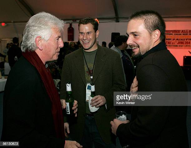 Musician Graham Nash from the band Crosby Stills Nash and Young is seen with Directors Zach Niles and Banker White while attend the after party for...