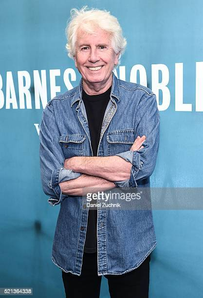 Musician Graham Nash poses before signing copies of his new album 'The Path Tonight' at Barnes Noble Citigroup Center on April 15 2016 in New York...