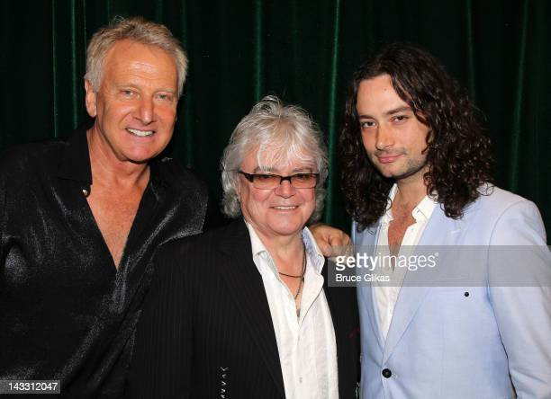 Musician Graham Russell of Air Supply musician Russell Hitchcock of Air Supply and actor/singer Constantine Maroulis pose at The Air Supply Musical...
