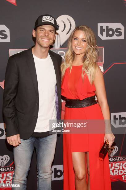 Musician Granger Smith and Amber Bartlett attend the 2017 iHeartRadio Music Awards which broadcast live on Turner's TBS TNT and truTV at The Forum on...