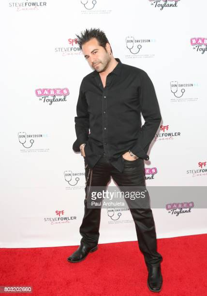 Musician Greg Martin of the Rock Band Harmful If Swallowed attends the 2nd annual Babes In Toyland Support Our Troops charity event at Avalon on June...