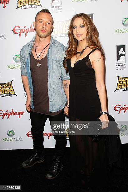 Musician Greg Puciato and Jenna Haze attend the 4th Annual Revolver Golden God Awards at Club Nokia on April 11 2012 in Los Angeles California