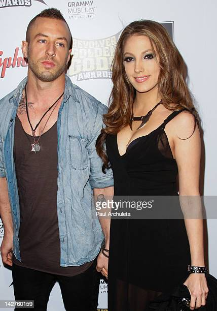 Musician Greg Puciato and Jenna Haze attend the 4th Annual Revolver Golden God Awards at Club Nokia on April 11, 2012 in Los Angeles, California.