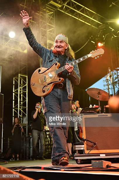 Musician Greg Schwartz performs onstage with The Arcs during day 2 of the 2016 Coachella Valley Music Arts Festival Weekend 1 at the Empire Polo Club...