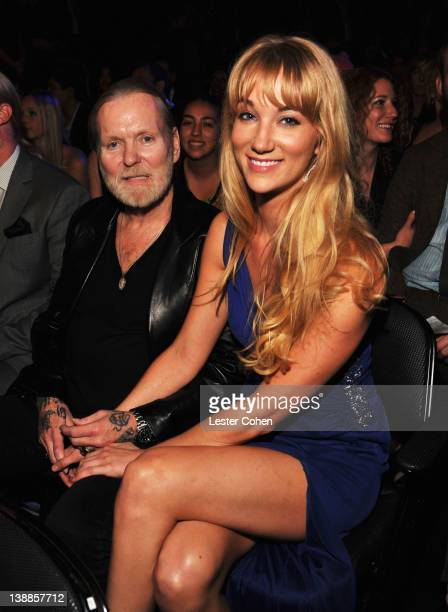 Musician Gregg Allman and guest attend The 54th Annual GRAMMY Awards at Staples Center on February 12 2012 in Los Angeles California