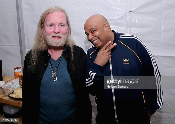 Musician Gregg Allman and Reverend Run attend the MasterCard Priceless® Preview Meatopia Presented By Creekstone Farms Sponsored By Thrillist Hosted...