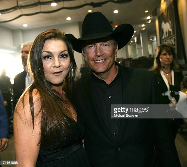 Musician Gretchen Wilson and George Strait pose backstage at the 42nd Annual Academy Of Country Music Awards held at the MGM Grand Garden Arena on...