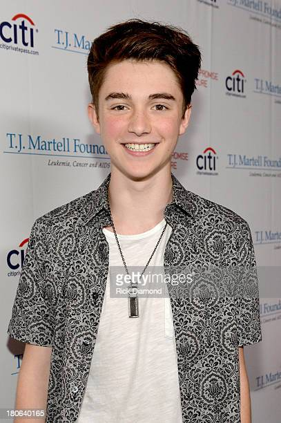 Musician Greyson Chance attends the TJ Martell Foundation's 14th Annual Family Day Honoring Paradigm Talent Agency's Marty Diamond and Family...