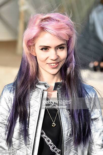 Musician Grimes attends the Louis Vuitton show as part of the Paris Fashion Week Womenswear Spring/Summer 2016 on October 7 2015 in Paris France
