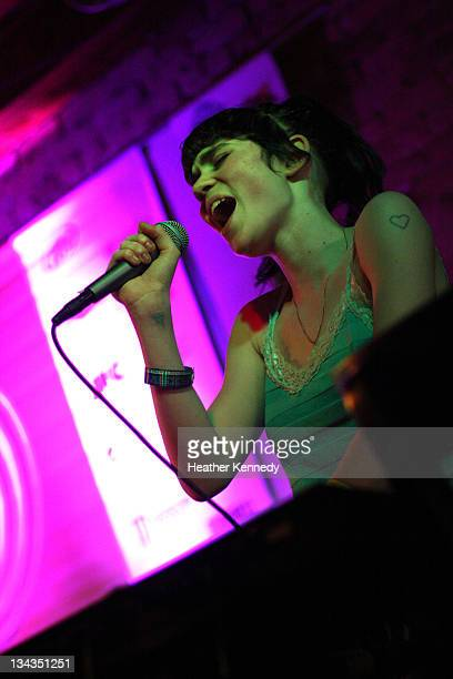 Musician Grimes performs onstage at the 2011 SXSW Music Film Interactive Festival Tuesday Night Quebec Showcase at Spill on March 15 2011 in Austin...