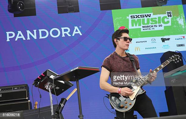 Musician Gryffin performs onstage during the PANDORA Discovery Den SXSW on March 16 2016 in Austin Texas