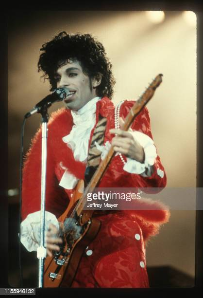 Musician Guitarist Singer Songwriter Producer Prince performs in concert Circa in Los Angeles California