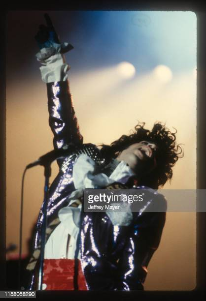 Musician, Guitarist, Singer, Songwriter, Producer, Prince performs in concert on February 18, 1985 at The Forum in Inglewood, California.