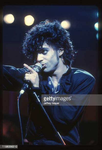 Musician Guitarist Singer Songwriter Producer Prince performs in concert on March 28 1983 at Universal Amphitheatre in Los Angeles California