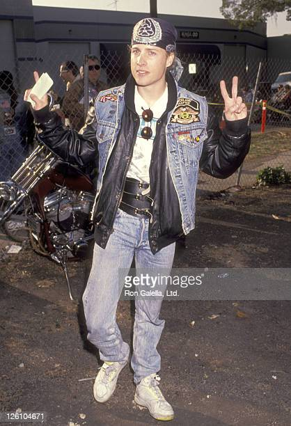 Musician Gunnar Nelson attends the Love Ride 8 Eighth Annual Motocycle Rider's Fundraiser for the Muscular Dystrophy Association on November 3 1991...