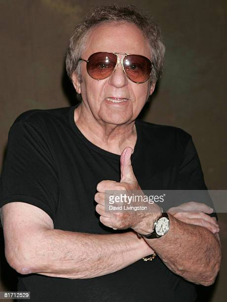 Musician Hal Blaine attends The Wreaking Crew's induction into Hollywood's RockWalk at the Guitar Center on June 25 2008 in Hollywood California