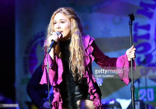 Musician Haley Reinhart former contestant on the 10th season of American Idol performs onstage during the Medlock Krieger All Star Concert benefiting...