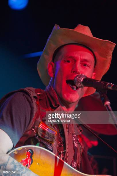 Musician Hank Williams III performs at Adam Kimmel x Carhartt party at Don Hill's on February 16 2011 in New York City