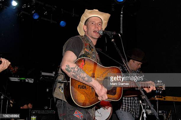 Musician Hank Williams III performs at the Adam Kimmel x Carhartt party at Don Hill's on February 16 2011 in New York City