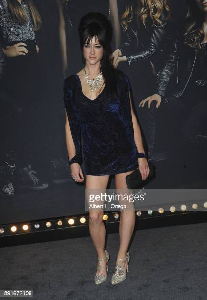 Musician Hannah Fairlight arrives for the Premiere Of Universal Pictures' 'Pitch Perfect 3' held at The Dolby Theater on December 12 2017 in...