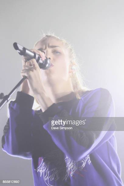 Musician Hannah Reid of London Grammar performs at Spark Arena on September 30, 2017 in Auckland, New Zealand.