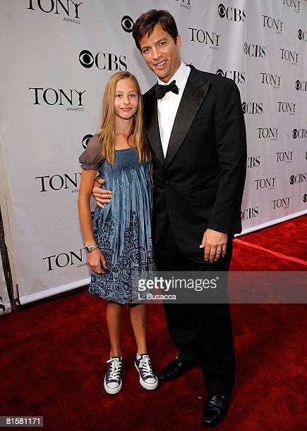 Musician Harry Connick Jr and daughter Georgia Connick attend the 62nd Annual Tony Awards at Radio City Music Hall on June 15 2008 in New York City