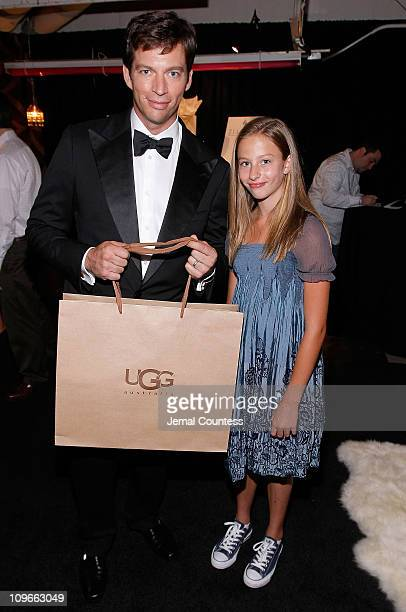 Musician Harry Connick Jr and daughter Georgia Connick pose at the 62nd Annual Tony Awards Official Gift Lounge produced by On 3 Productions at Radio...