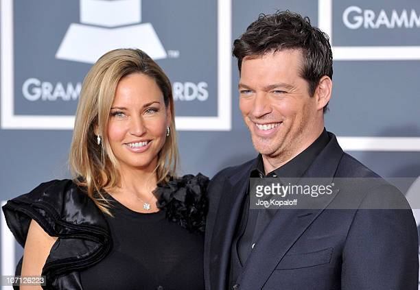 Musician Harry Connick Jr and wife Jill Goodacre arrive at the 52nd Annual GRAMMY Awards held at Staples Center on January 31 2010 in Los Angeles...
