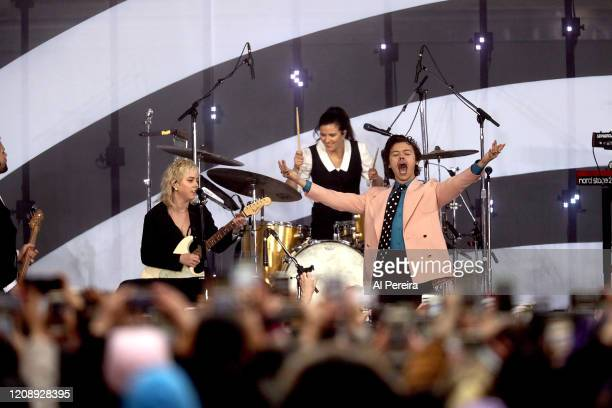 Musician Harry Styles performs on NBC's 'Today' show at the Rockefeller Plaza on February 26 2020 in New York City