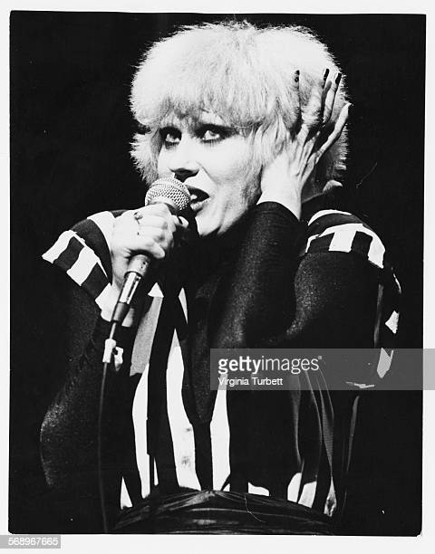 Musician Hazel O'Connor performing on stage April 3rd 1980