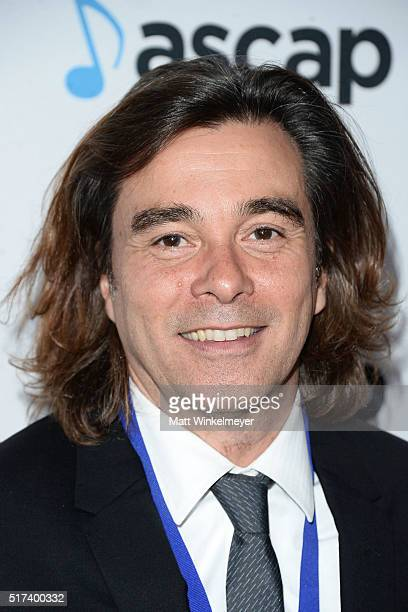 Musician Heitor Pereira arrives at the 2016 ASCAP Screen Music Awards at The Beverly Hilton Hotel on March 24 2016 in Beverly Hills California