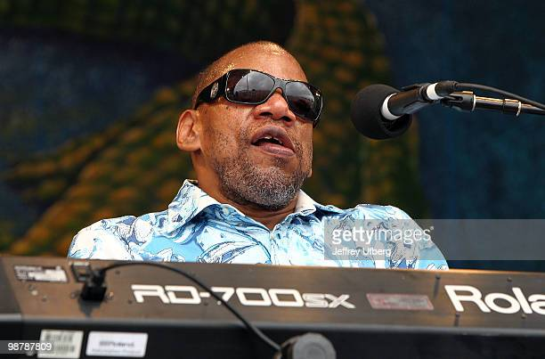Musician Henry Butler performs during day 6 of the 41st annual New Orleans Jazz Heritage Festival at the Fair Grounds Race Course on May 1 2010 in...