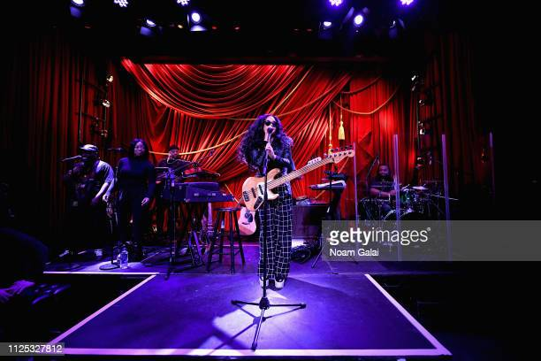 Musician H.E.R performs onstage during ModCloth Hosts Special Performance By Grammy Winning Artist H.E.R. On February 16, 2019 in New York City.
