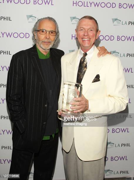 Musician Herb Alpert and Inductee Richard Carpenter of The Carpenters backstage during the Hollywood Bowl Opening Night Gala held at the Hollywood...