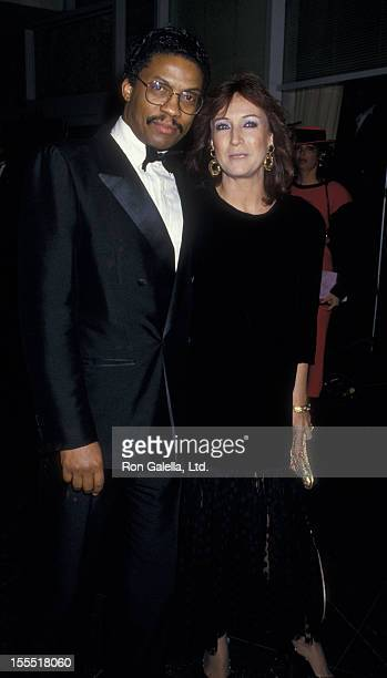 Musician Herbie Hancock and wife Gigi Hancock attend 44th Annual Golden Globe Awards on January 31 1987 at the Beverly Hilton Hotel in Beverly Hills...