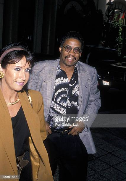 Musician Herbie Hancock and wife Gigi Hancock attend BMI Millionaires Awards Honoring Michael Jackson on May 8 1990 at the Beverly Wilshire Hotel in...