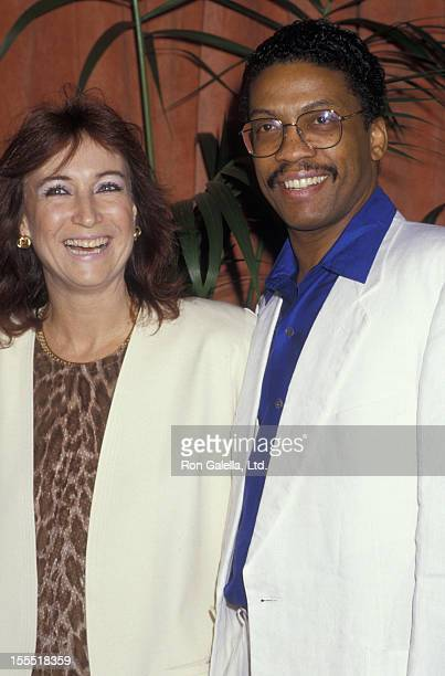 Musician Herbie Hancock and wife Gigi Hancock attend the nominees luncheon for 59th Annual Academy Awards on March 18 1987 at the Beverly Hilton...