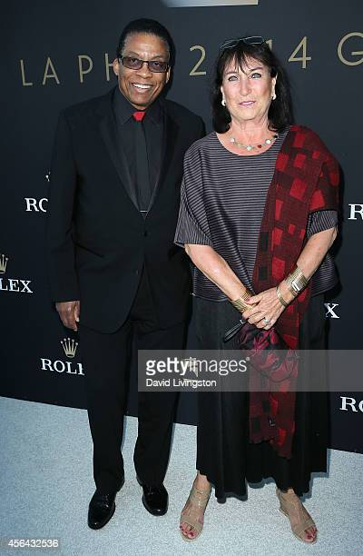 Musician Herbie Hancock and wife Gigi Hancock attend the LA Philharmonic's Walt Disney Concert Hall Opening Night Concert and Gala at Walt Disney...