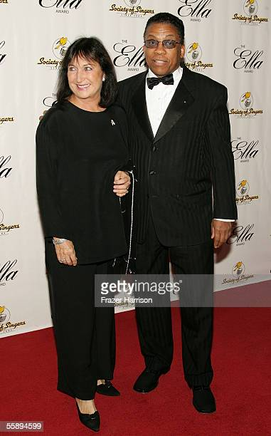 Musician Herbie Hancock and wife Gudrun Mexines arrive at the Society of Singers 14th Annual Ella Award honoring Sir Elton John at the Beverly Hilton...