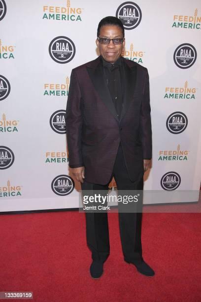 Musician Herbie Hancock attends the RIAA and Feeding America Inauguration Charity Ball at Ibiza on January 20 2009 in Washington DC