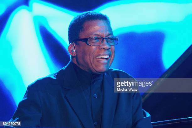 Musician Herbie Hancock performs on stage at The 12th Annual Jazz In The Gardens Music Festival Day 1 at Hard Rock Stadium on March 18 2017 in Miami...